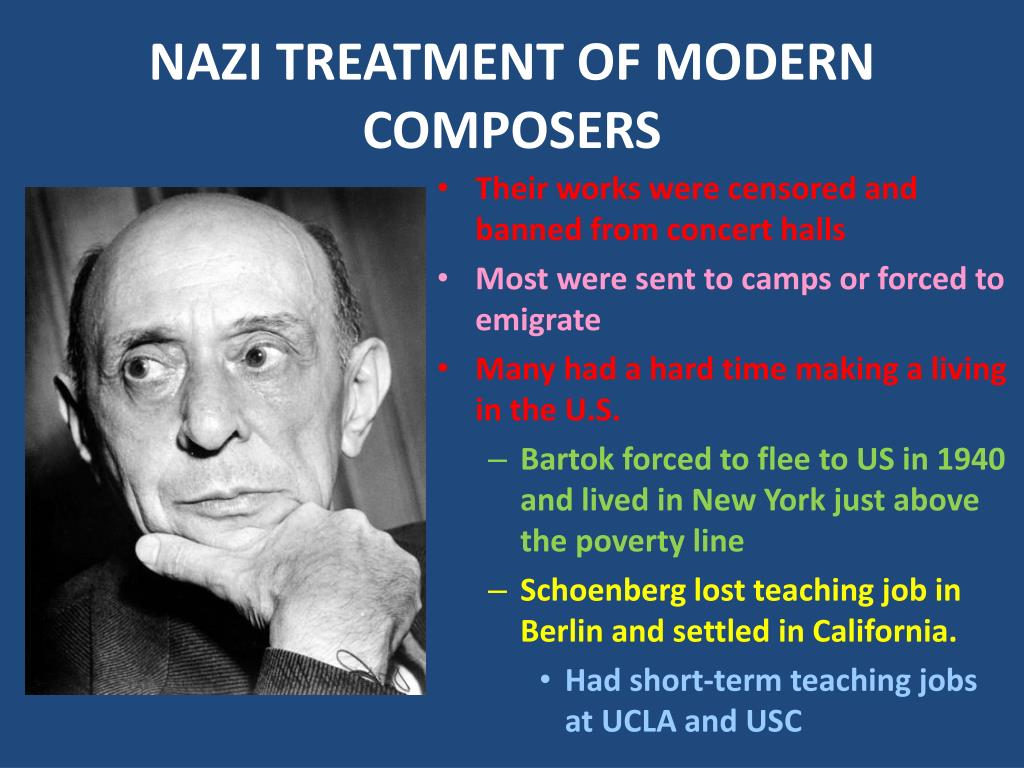 NAZI TREATMENT OF MODERN COMPOSERS