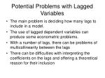 potential problems with lagged variables