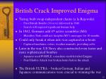 british crack improved enigma32