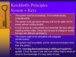 kerckhoffs principles system keys