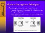 modern encryption principles