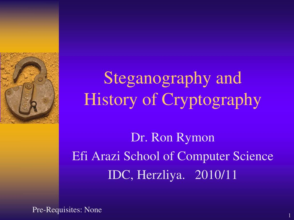 steganography and history of cryptography l.