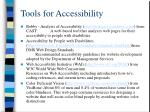 tools for accessibility