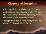 cicero and josephus