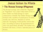 jesus taken to pilate