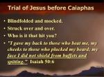 trial of jesus before caiaphas