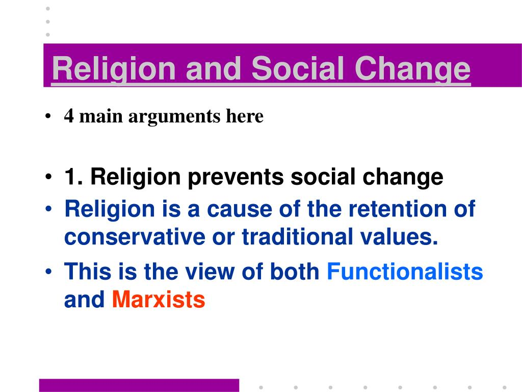 religion and social change l.