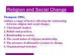 religion and social change28