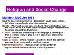 religion and social change38