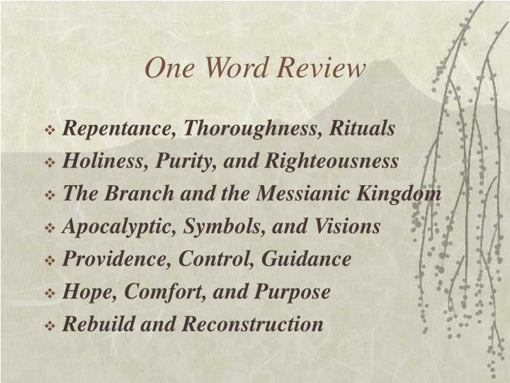 One word review