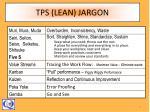 tps lean jargon