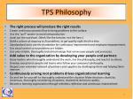tps philosophy