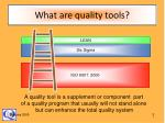 what are quality tools
