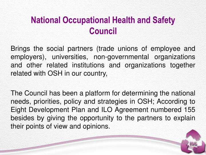National Occupational Health and Safety Council