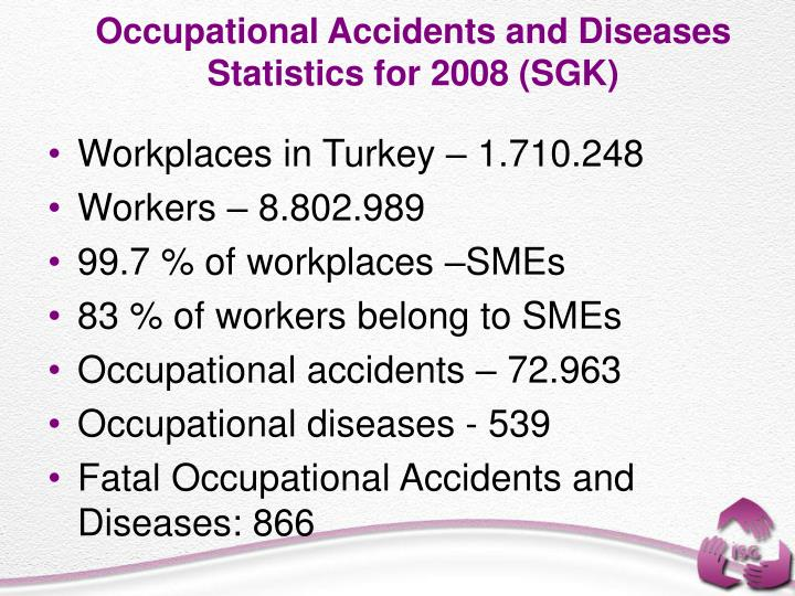 Occupational Accidents and Diseases Statistics for 2008 (SGK)