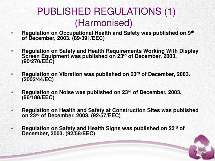 PUBLISHED REGULATIONS (1)