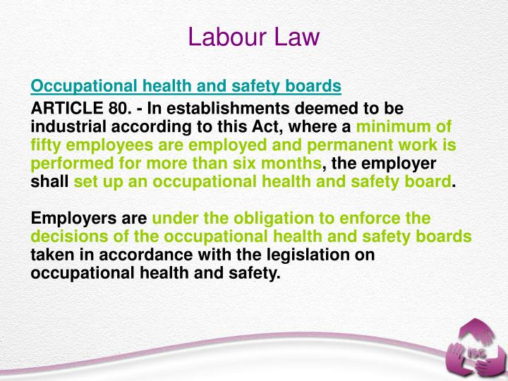 Occupational health and safety boards