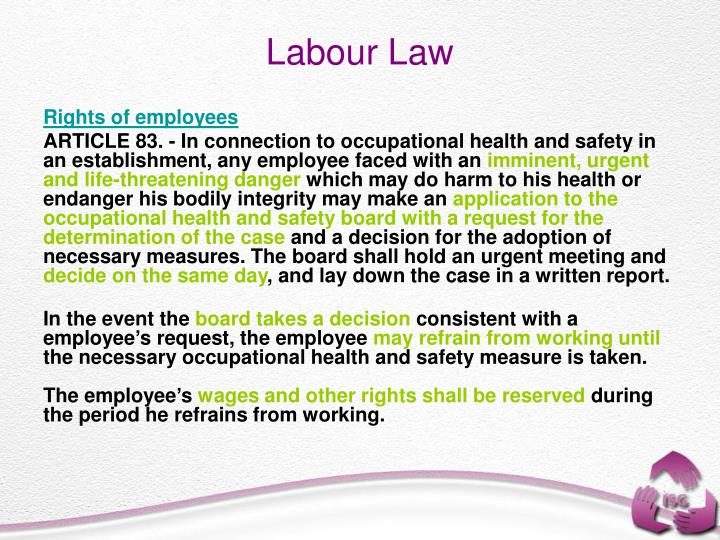 Rights of employees