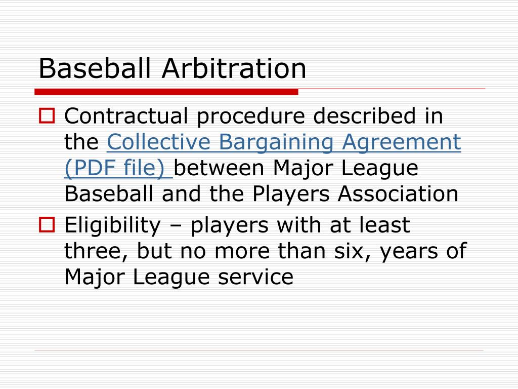 Baseball Arbitration