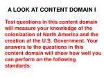 a look at content domain i