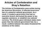 articles of confederation and shay s rebellion