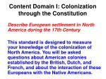 content domain i colonization through the constitution
