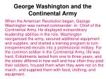 george washington and the continental army