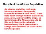 growth of the african population