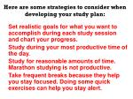 here are some strategies to consider when developing your study plan