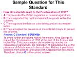 sample question for this standard98
