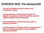 strategy box the itemized bill
