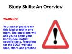 study skills an overview