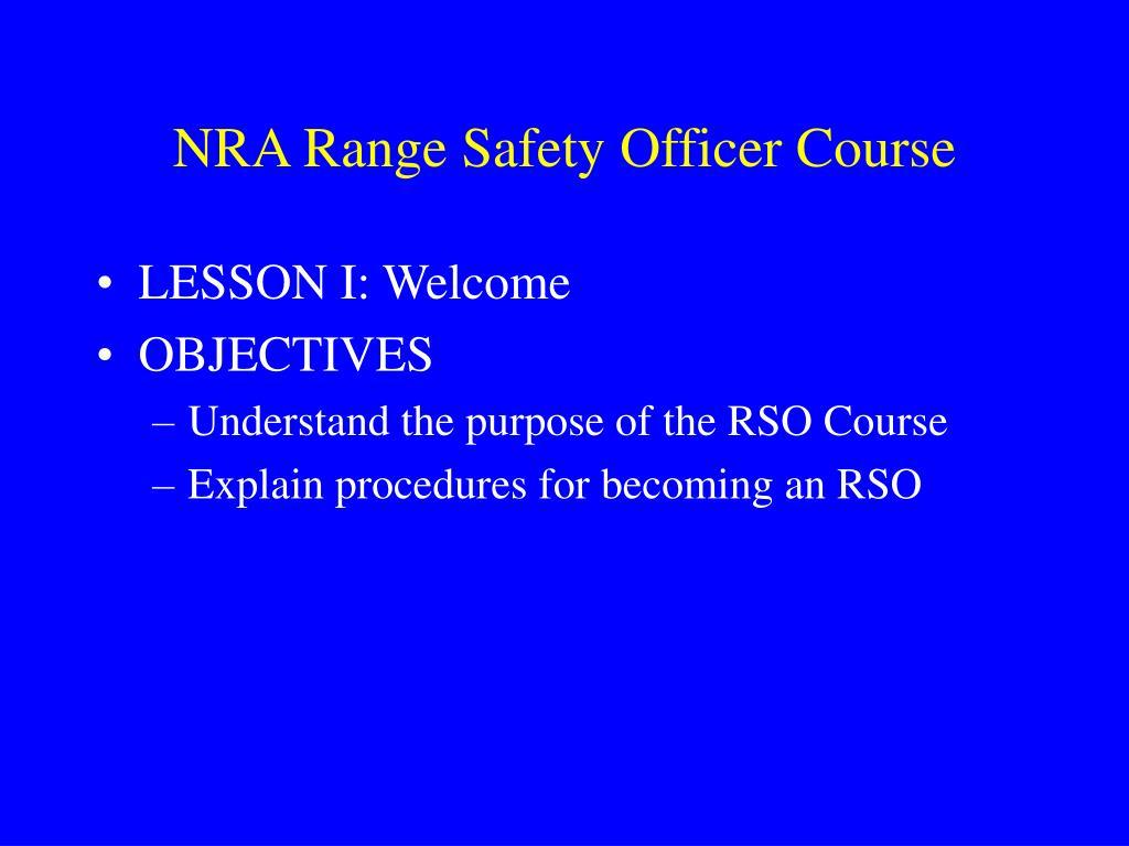 nra range safety officer course l.