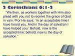 2 corinthians 6 1 2