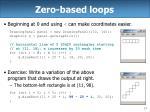 zero based loops