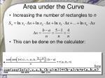 area under the curve5