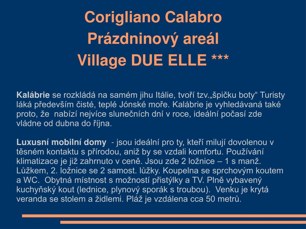 corigliano calabro pr zdninov are l village due elle l.