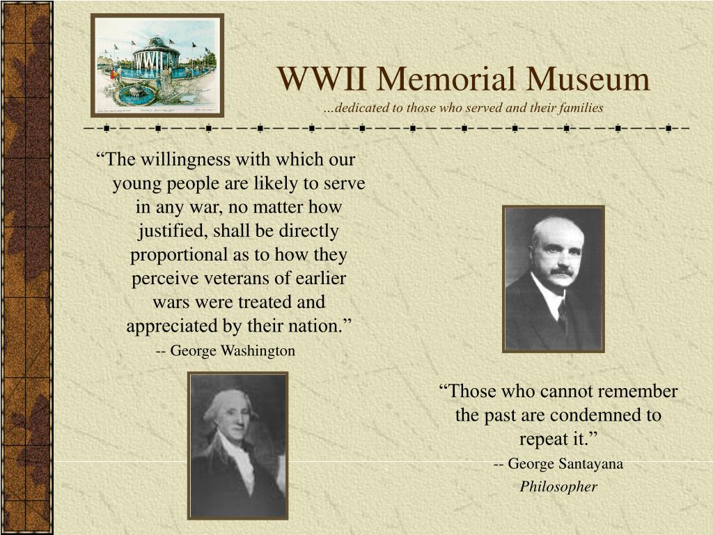wwii memorial museum dedicated to those who served and their families l.
