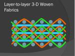 layer to layer 3 d woven fabrics