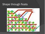 shape through floats