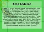 acep abdullah