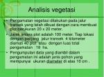 analisis vegetasi