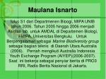 maulana isnarto