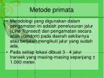 metode primata