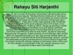 rahayu siti harjanthi