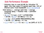 disk performance example