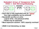 redundant arrays of inexpensive disks raid 1 disk mirroring shadowing