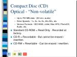 compact disc cd optical non volatile