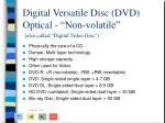 digital versatile disc dvd optical non volatile