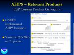ahps relevant products